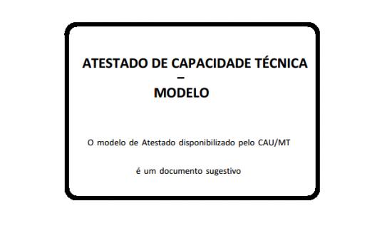 Modelo de atestado de capacidade técnica