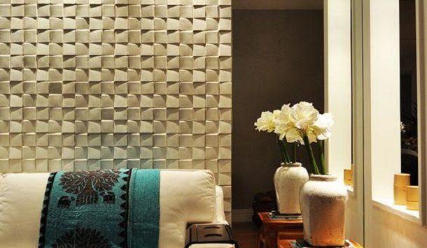 Revestimento 3D – Quando a parede vira um objeto de decoração