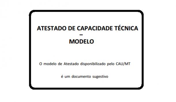 Modelo De Atestado De Capacidade Técnica Portal Do Arquiteto